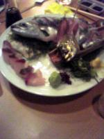 かんぱち+鯵+鯖の刺身
