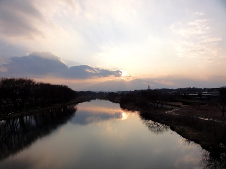入間川夕景20110308