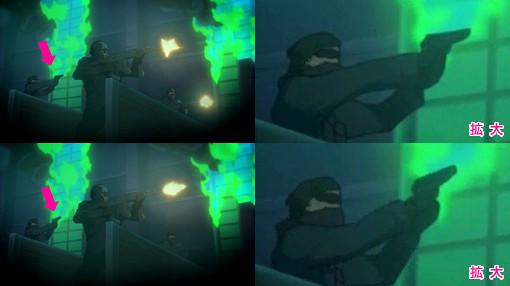 「TIGER & BUNNY」(第7話)に登場した銃器まとめ