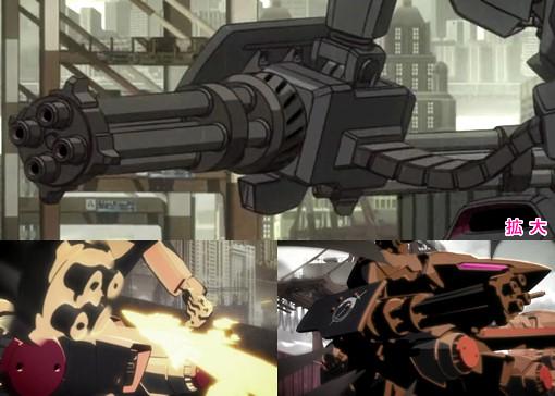 「TIGER & BUNNY」(第13話)に登場した銃器