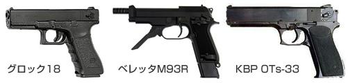 グロック18 / ベレッタM93R / KBP OTs-33