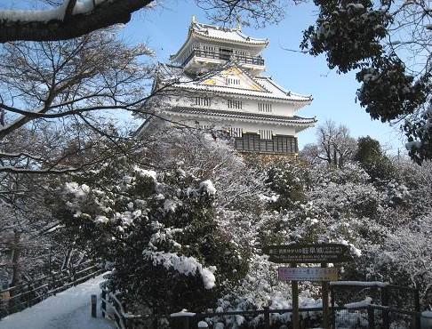 雪の岐阜城 035