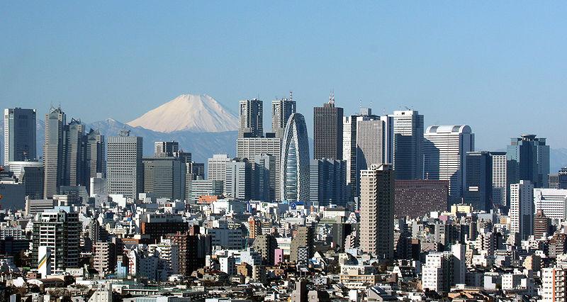 東京と富士山画像