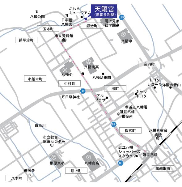 天籟宮地図