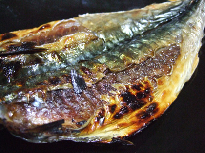 松輪のサバ干し焼き