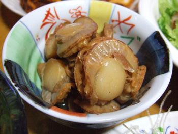 ホタテ醤油煮