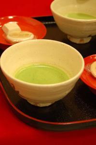銀閣寺でお茶