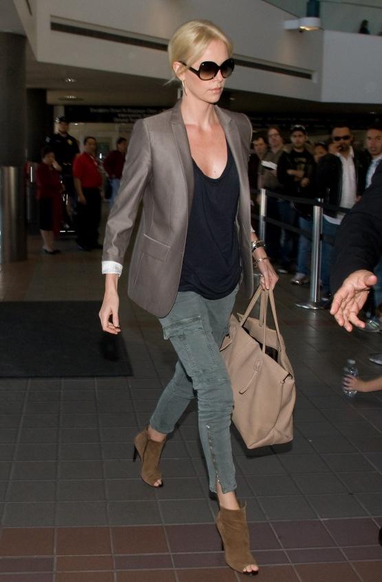 Charlize Theron at LAX