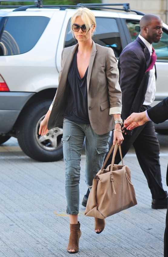 Charlize Theron at LAX- March 28, 2011