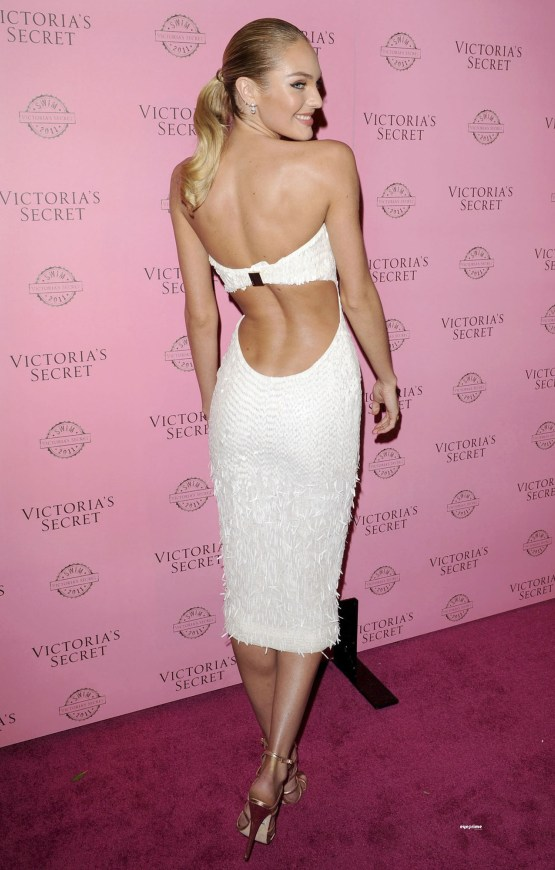 Candice Swanepoel attends the 2011 VS SWIM Collection Party