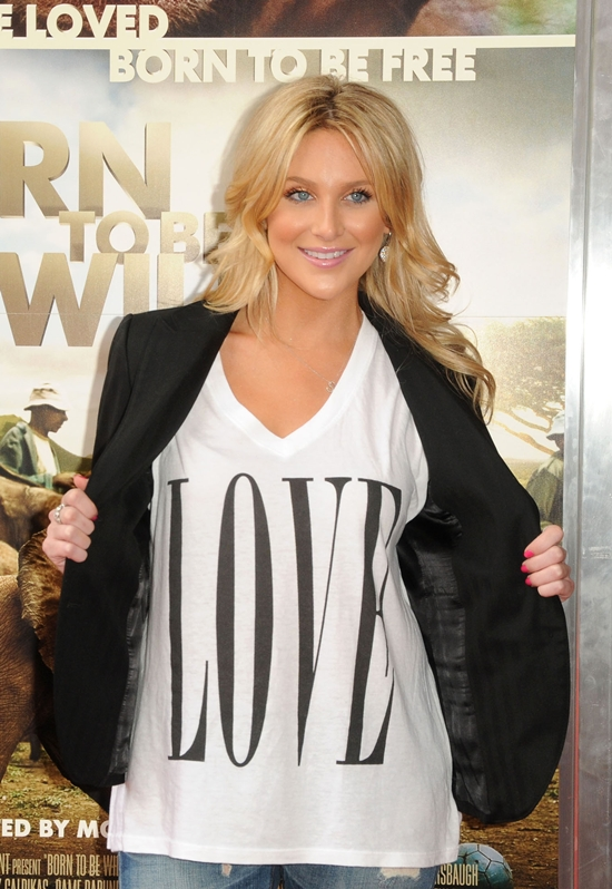 "Stephanie Pratt at the Premiere of  ""Born To Be Wild 3D"""