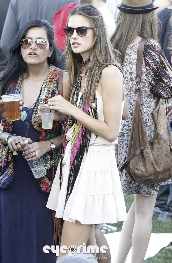 Alessandra Ambrosio at Coachella Valley Music Festival