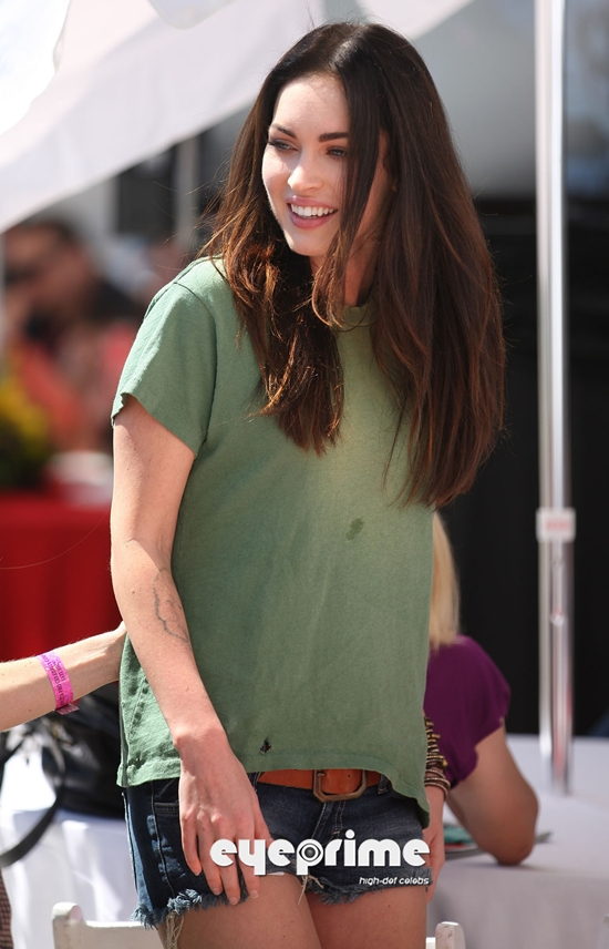 Megan Fox at the Toyota Celebrity Race in Long Beach