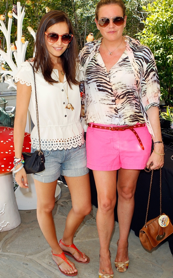 Camilla Belle attending a Coachella BBQ Pool Party