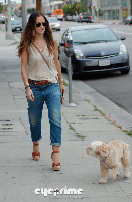 Minka Kelly meets with Dad in West Hollywood