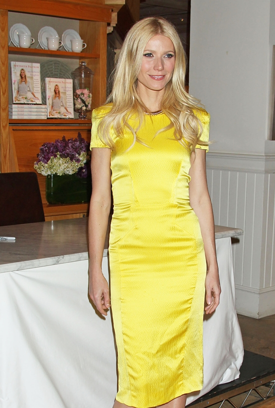 Gwyneth Paltrow at a book signing at Williams-Sonoma in Los Angeles