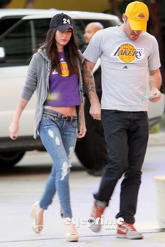 Megan Fox at a L.A Lakers Game in L.A