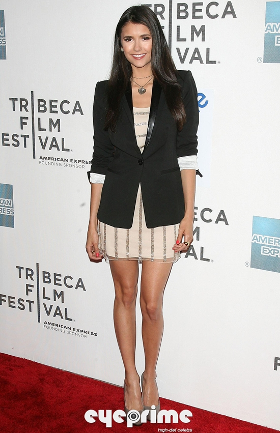 Nina Dobrev and Ian at Last Night Premiere during Tribeca Film Festival