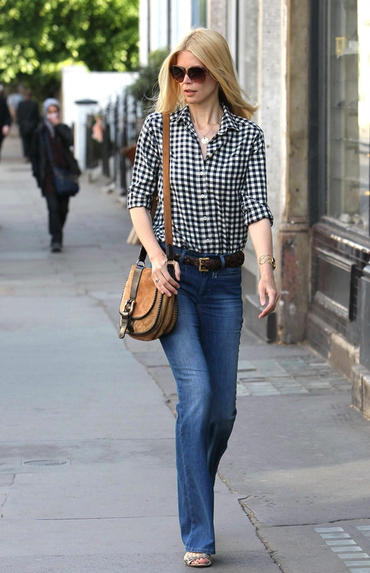 Claudia Schiffer Out in Notting Hill after doing school run in London