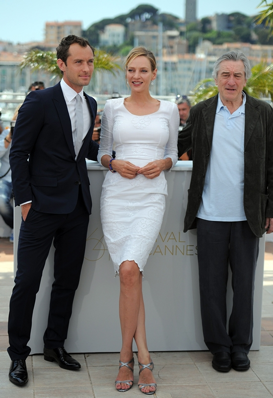 Uma Thurman poses during a photocall at the 64th Cannes Film Festival