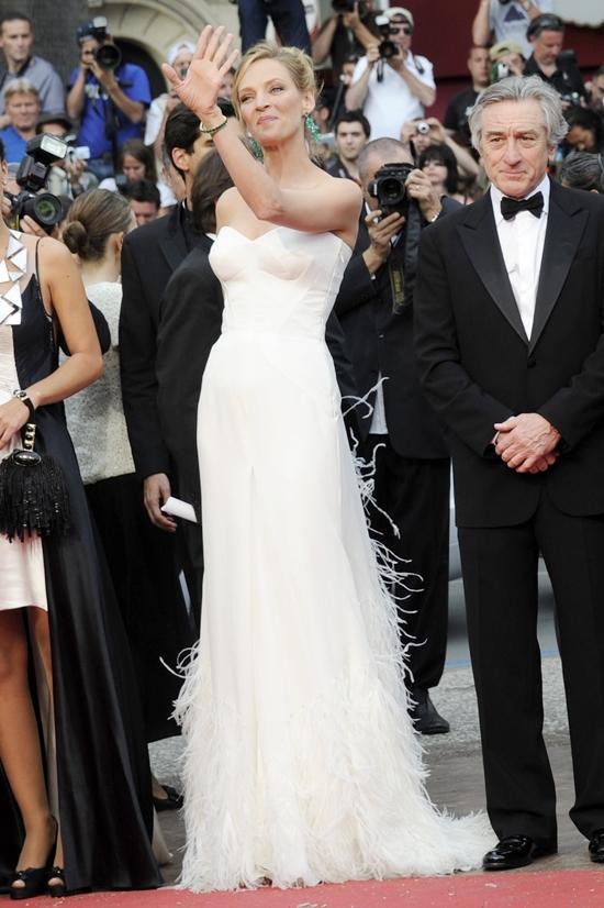 Uma Thurman Arrives at the screening of Midnight in Paris