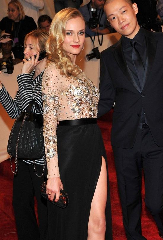 Diane Kruger at arrival at the Metropolitan Museum of Art Costume Institute Benefit
