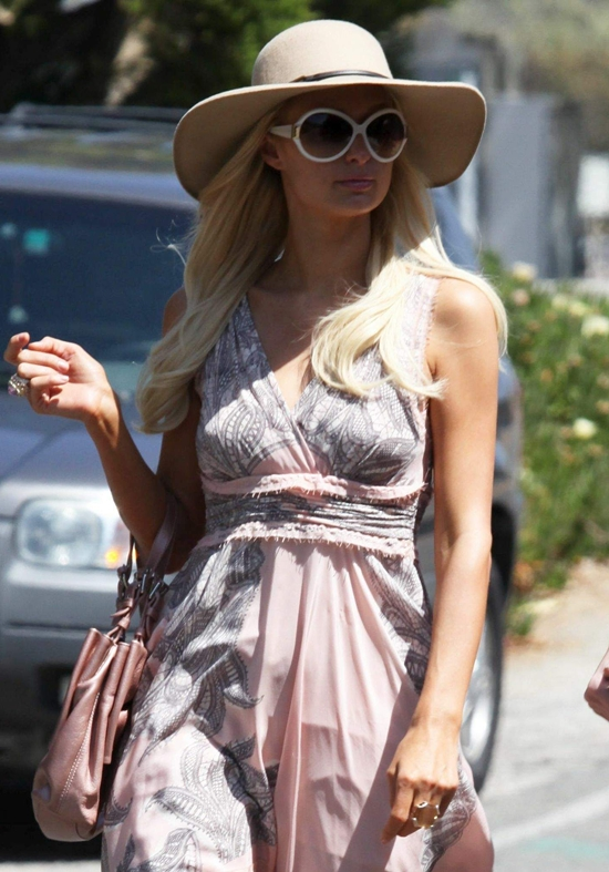 Paris Hilton house hunting in Malibu