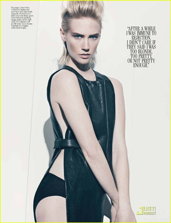 January Jones Covers 'W' May 2011