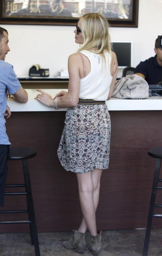 Kate Bosworth at the Mac Store
