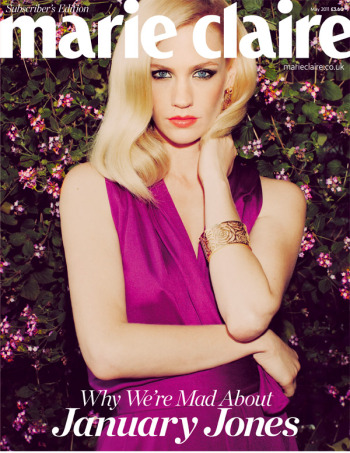 January Jones Covers 'Marie Claire UK' May 2011