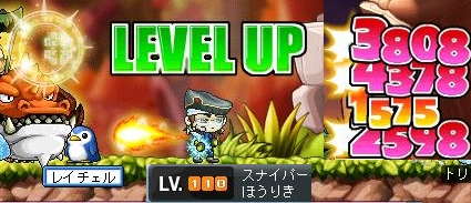 レベルアップ110