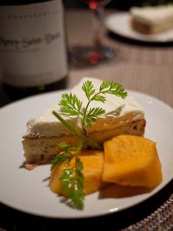 ル・コントワール・ド・ビオス レッドムーンのチーズケーキ
