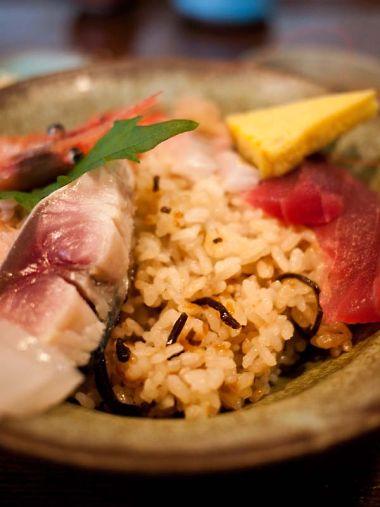 河童土器屋 海鮮丼の酢飯