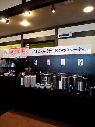 名代とんかつ勝富曲金店 ご飯おかわりコーナー