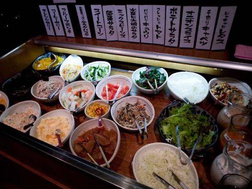 名代とんかつ勝富曲金店 サラダバー