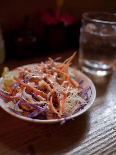 カムボム スリランカ料理 ランチのサラダ