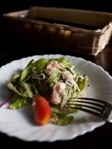 ラ・ボエーム ランチのサラダ