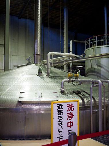 サントリー白洲蒸留所 発酵タンク