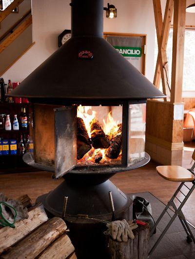 カフェレストラン美富士屋 暖炉