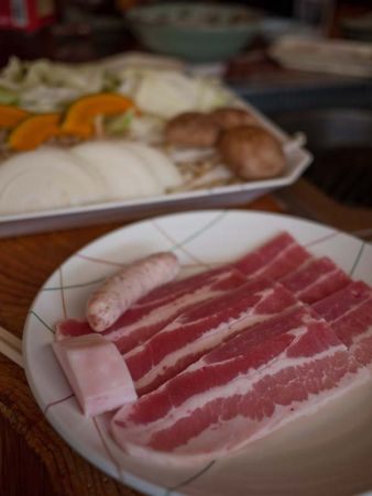 奥山 山の家 ジンギスカン料理 豚肉