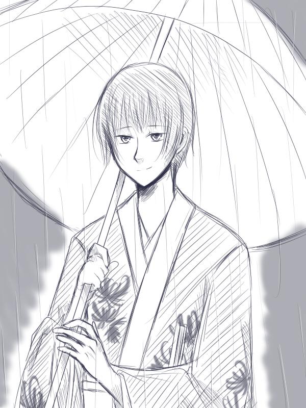 雨の日の菊