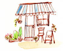 お店入口illust-sunnydays1