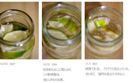 レモン酵母液完成
