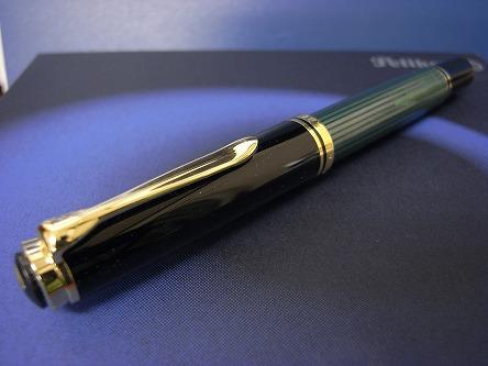 ペリカン スーベレーン M800 緑縞 姿
