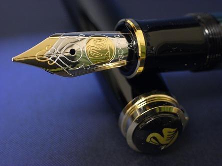 ペリカン スーベレーン M800 緑縞 ペン先