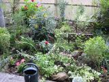 草取り後花壇