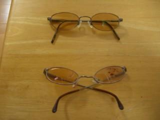 へしゃげた眼鏡