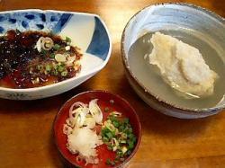 昇仙郷 御岳そば  「 せん 」 ミニ会席の前菜