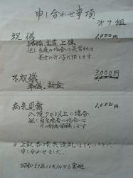 昭和53年 清和自治会9組申し合わせ事項