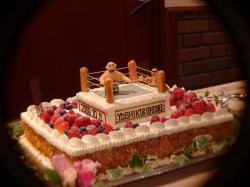 プロレスラー武藤バースデーケーキ